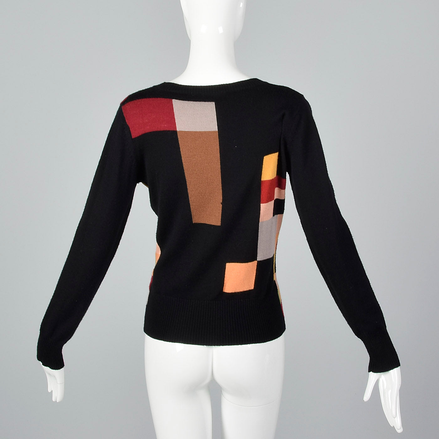 2000s Kenzo Geometric Color Block Sweater