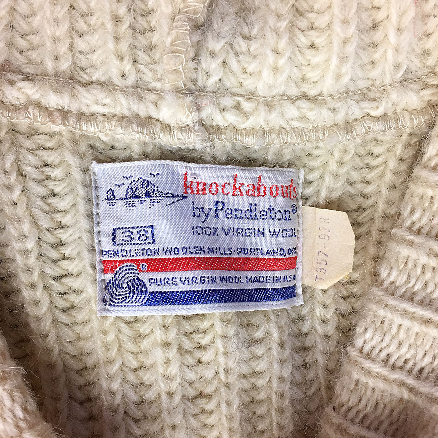 1970s Pendleton Heavy Wool Knit Sweater With Hood