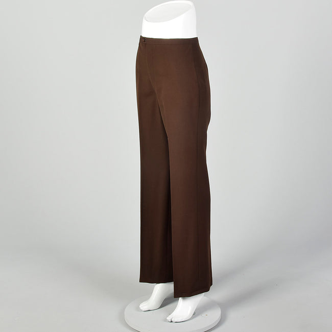 Small 1970s Brown Wide Leg Pants