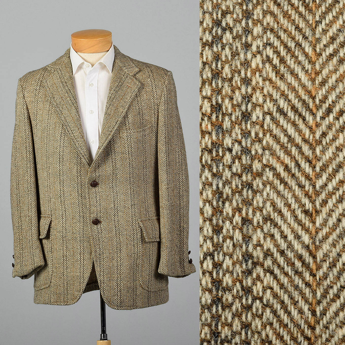 1970s Harris Tweed Tan Jacket