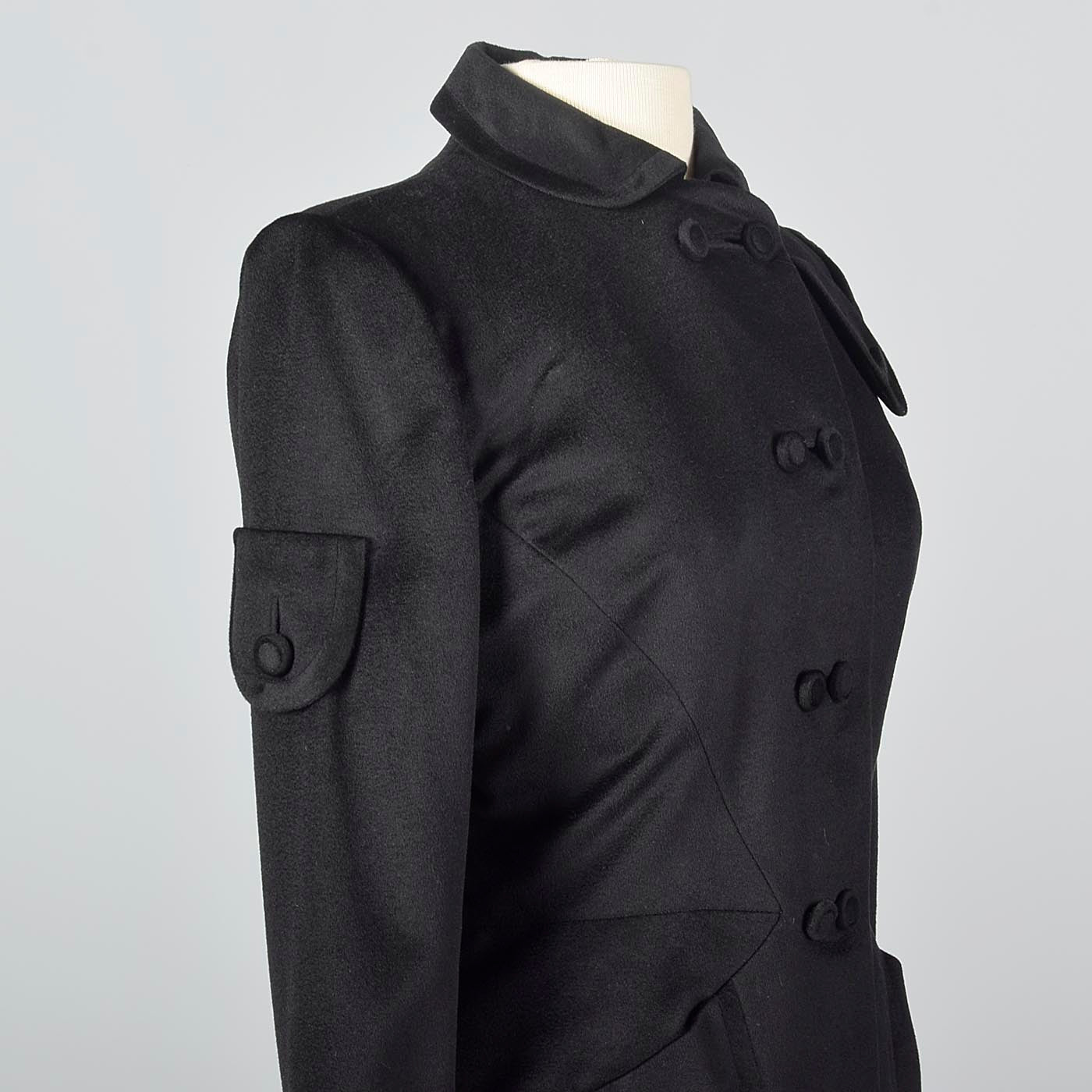 1940s Black Cashmere Skirt Suit