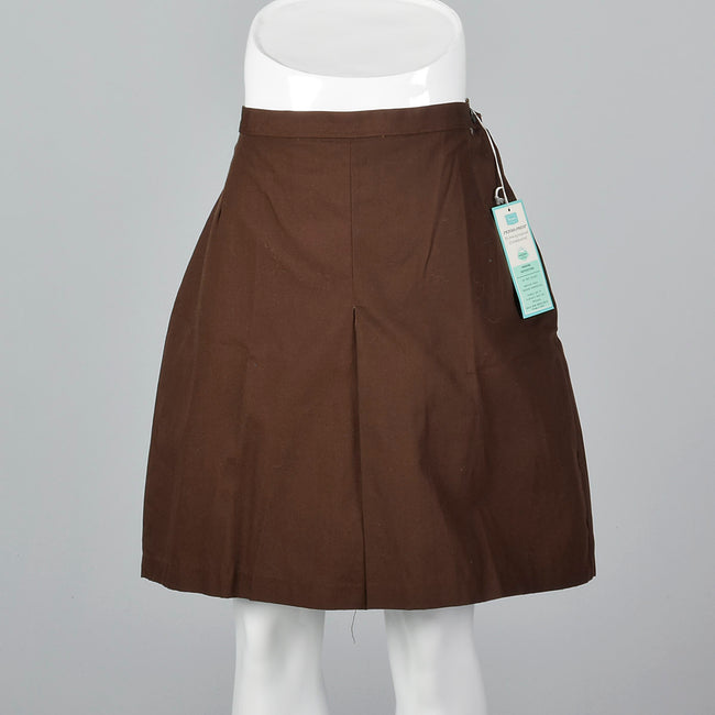 1960s Brown Mini Skort