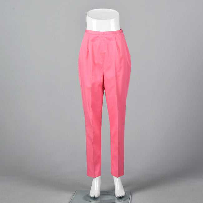 1950s Pink Tapered Pants