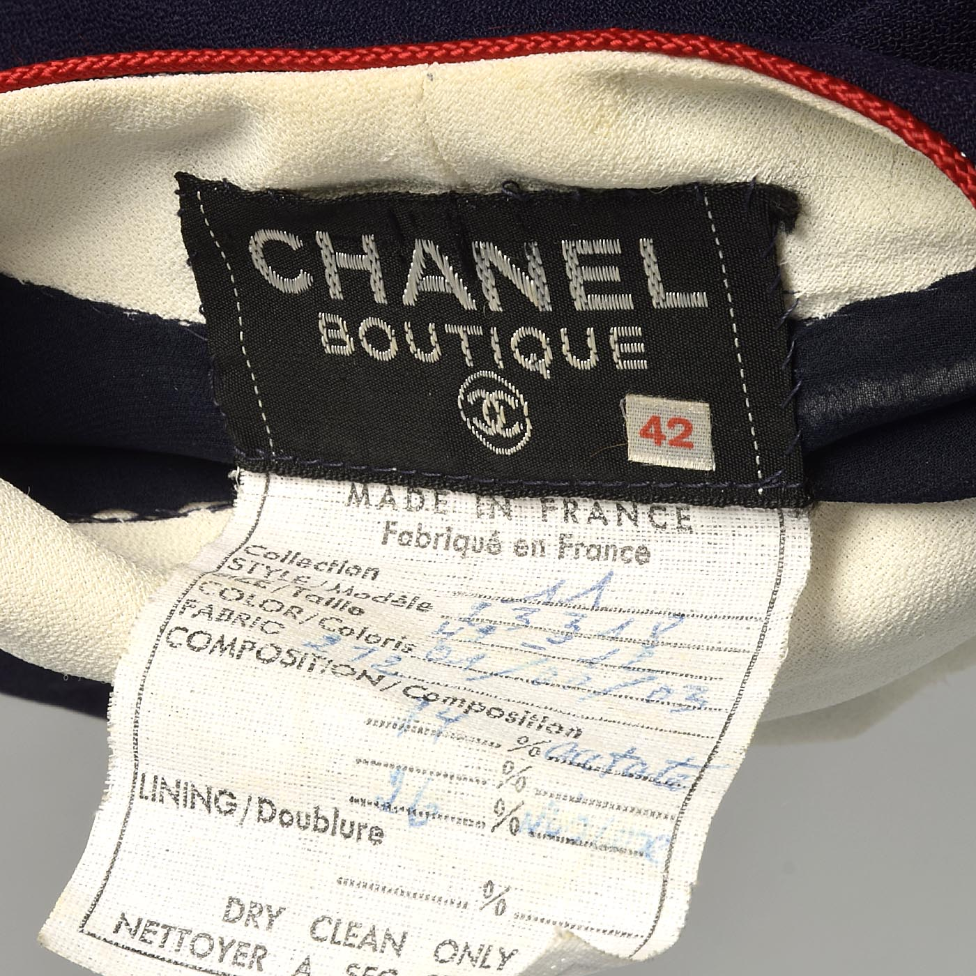 Chanel Nautical Shift Dress in Red White & Blue