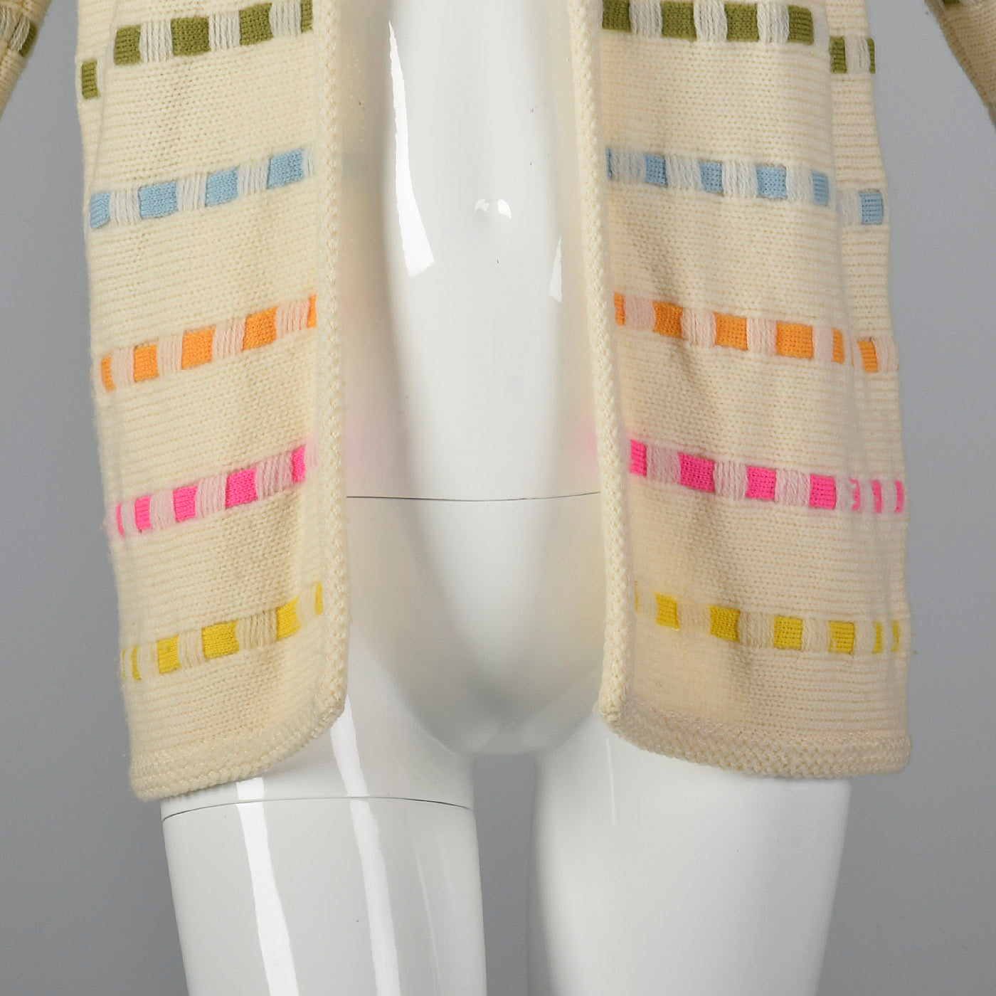 1960s Multicolor Striped Cardigan