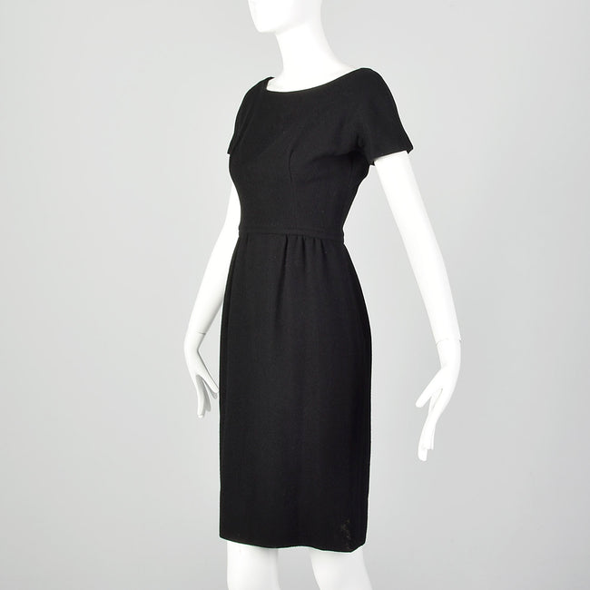 XS 1960s Black Dress Set and Matching Jacket