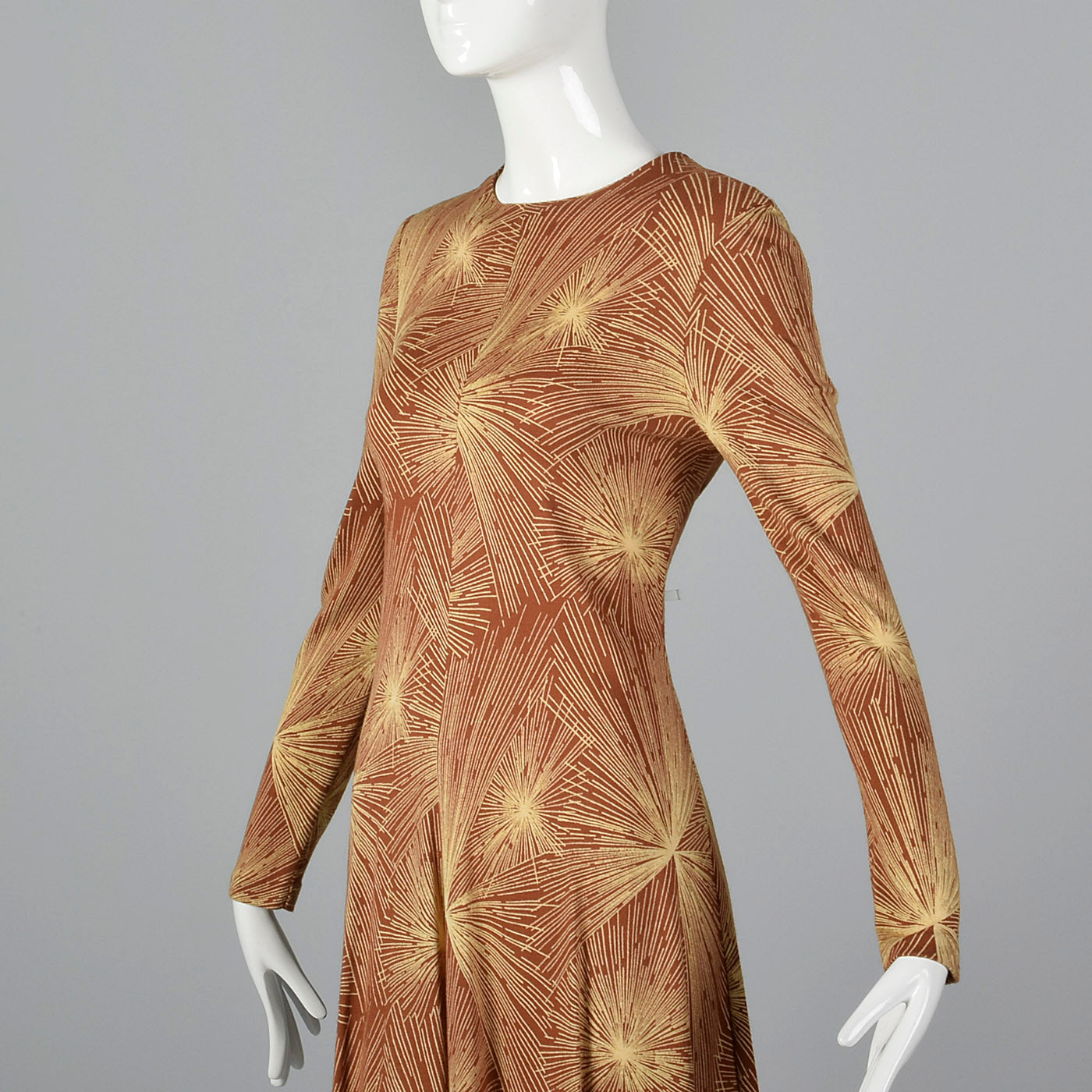 1970s Diane Von Furstenberg Brown Knit Dress