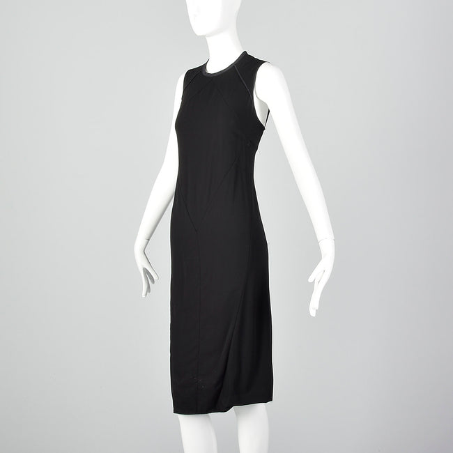 Narciso Rodriguez Black Keyhole Back Sheath Dress