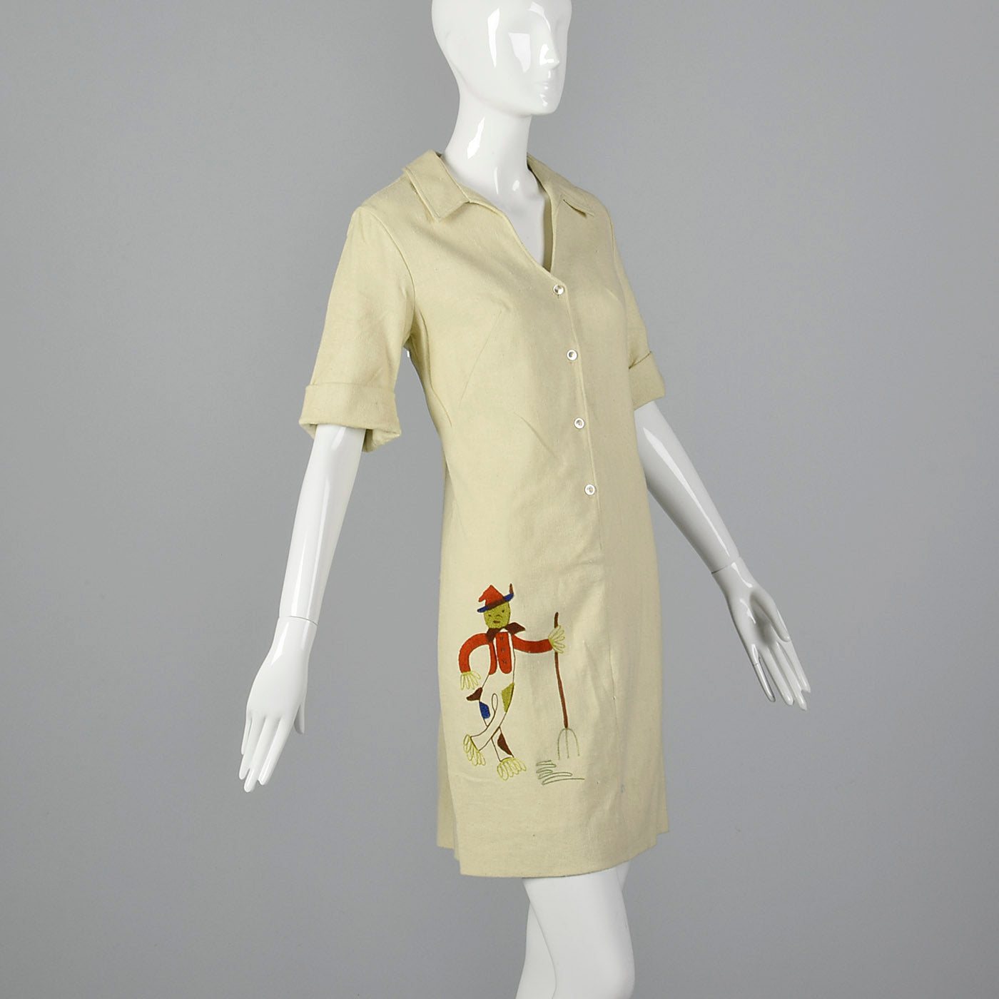 1960s Novelty Scarecrow Dress