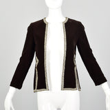 XS 1960s Brown Velvet Jacket