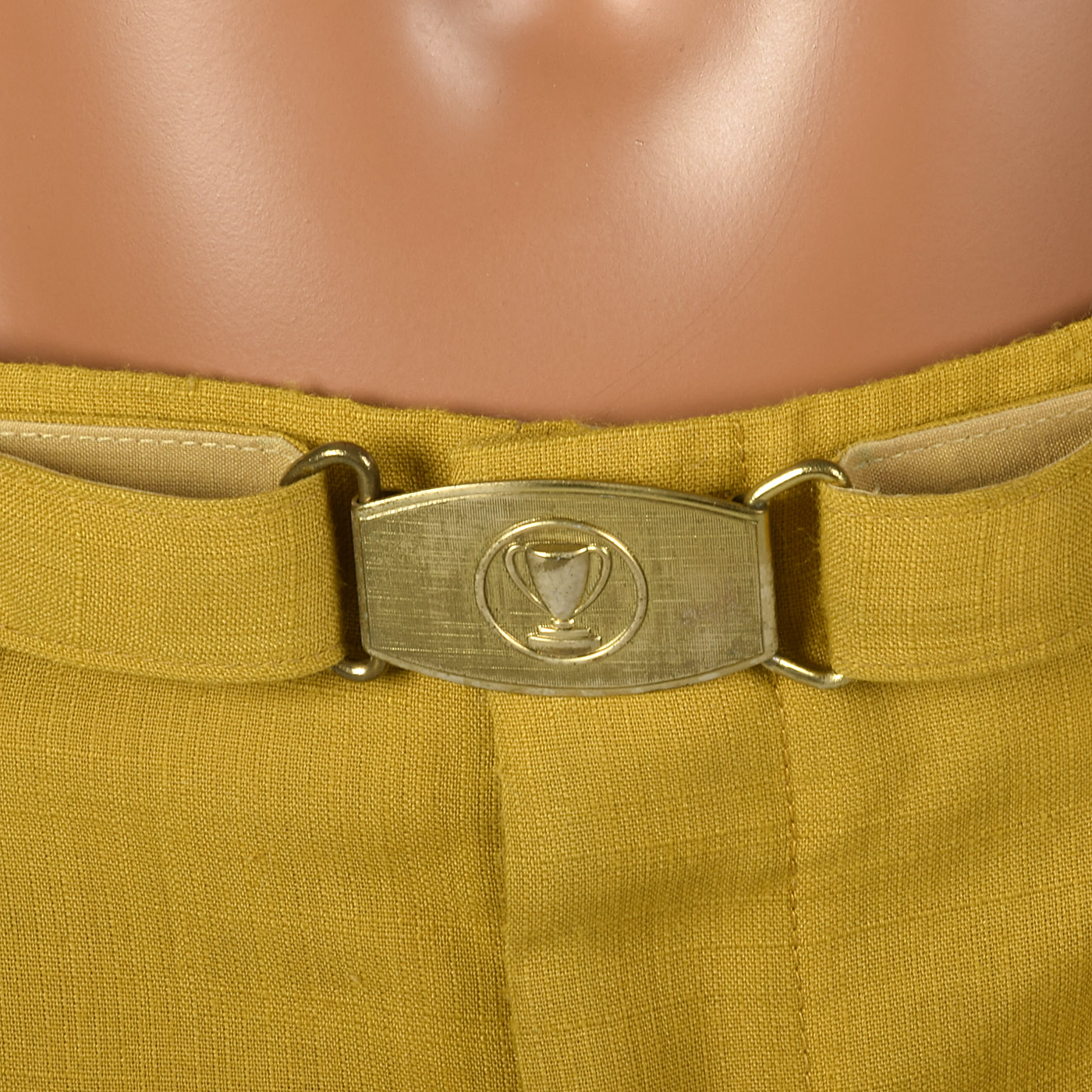 1950s Yellow Gold Golf Pants