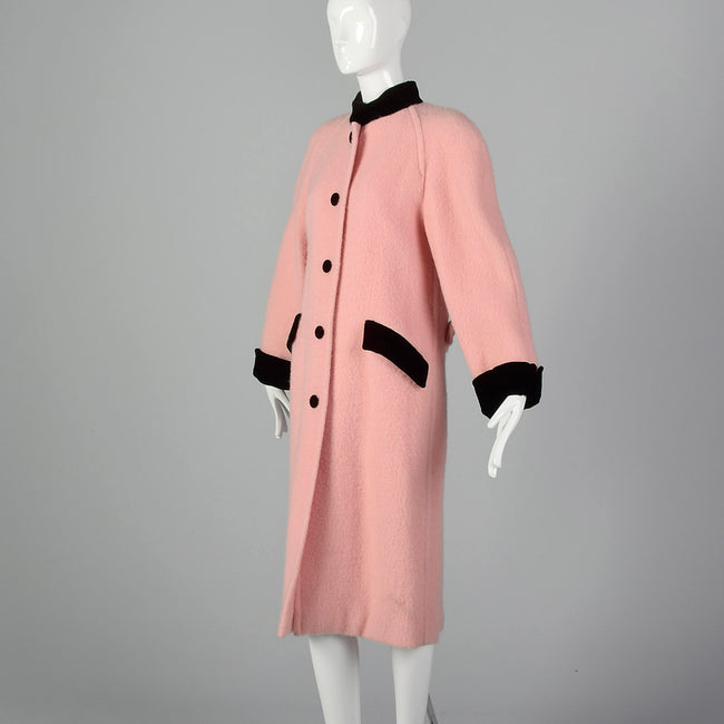 Small 1980s Pink Wool Jacket