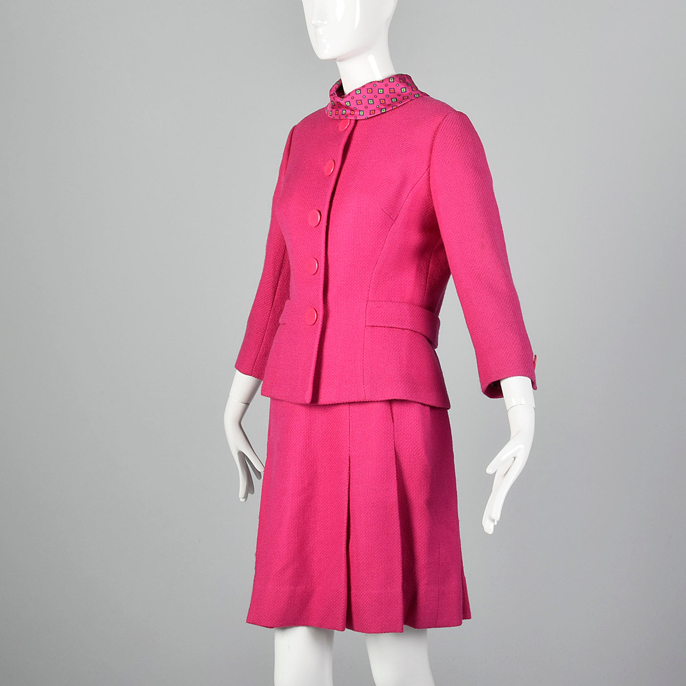 1960s Matthews Hot Pink Skirt Suit