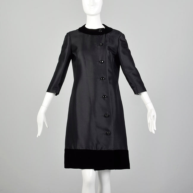 Small 1960s Silk and Wool Cocktail Dress