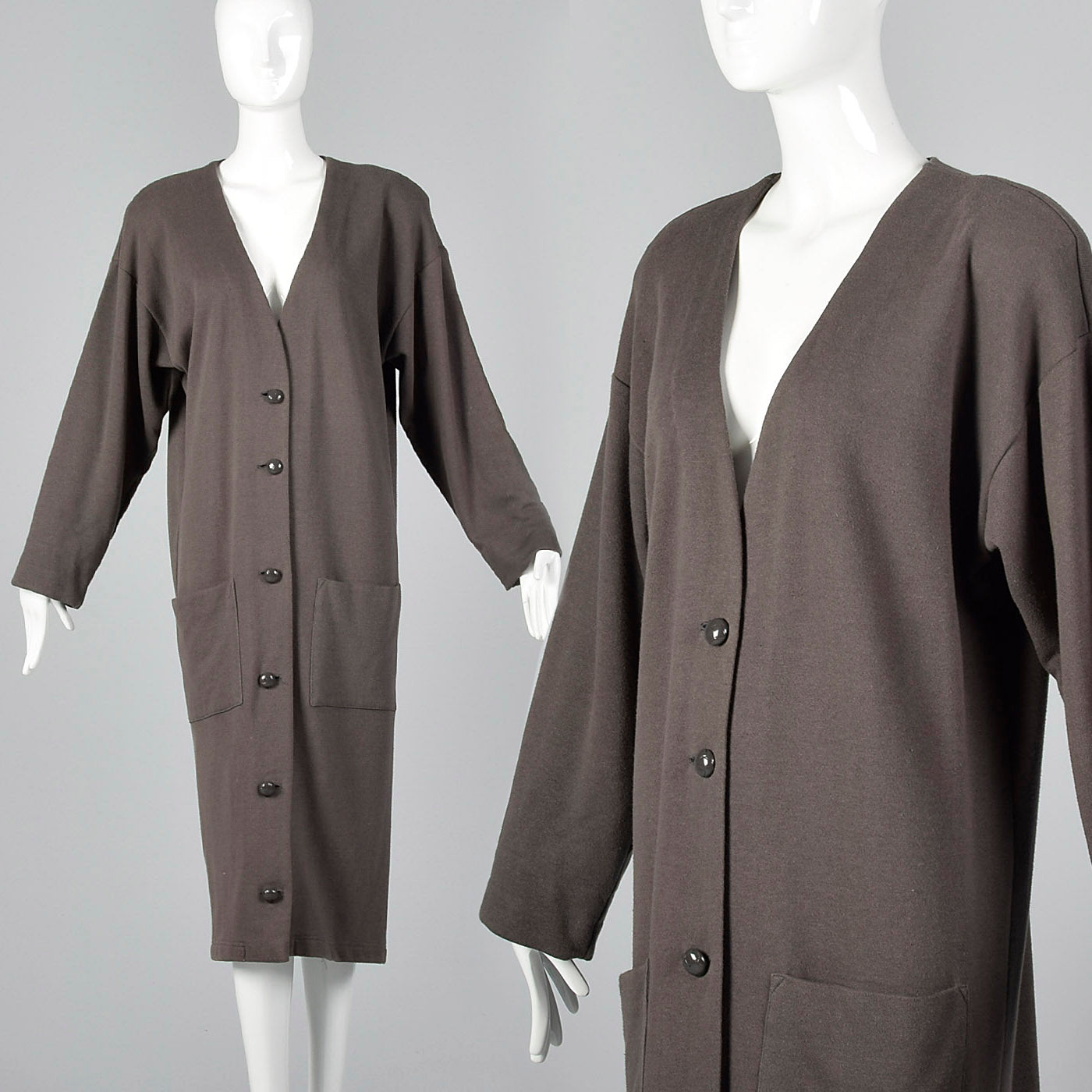 1990s Norma Kamali Long Knit Cardigan