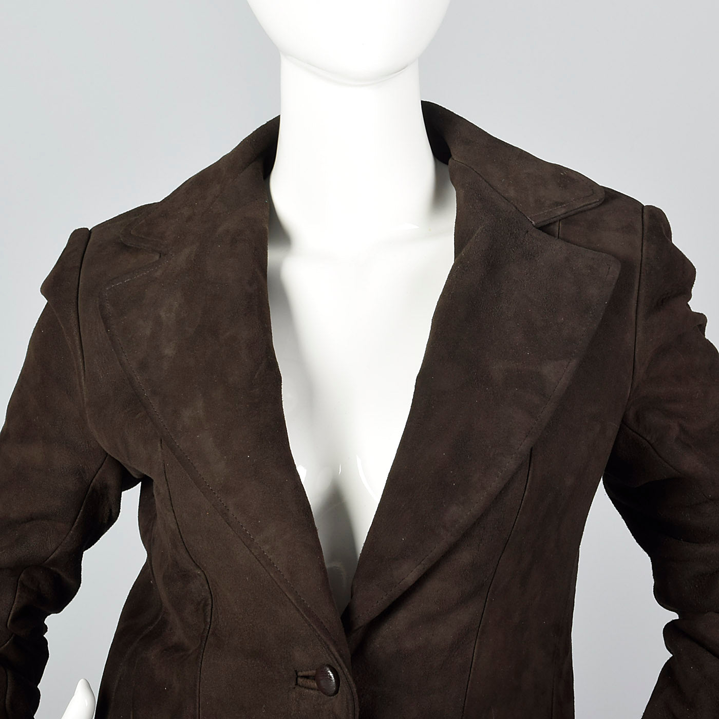 1970s Brown Suede Leather Suit