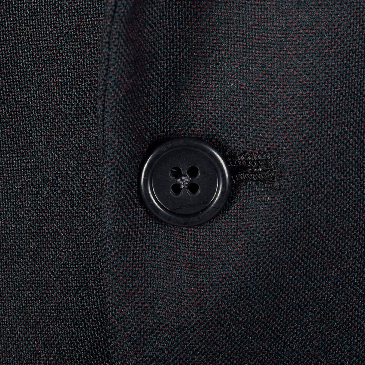 1960s Mens Black Sharkskin Two Piece Suit