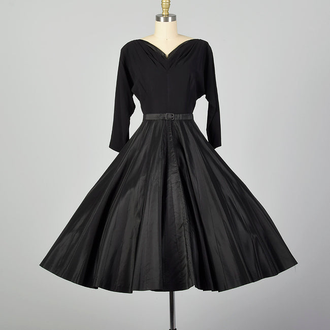 Medium 1960s Black Party Dress