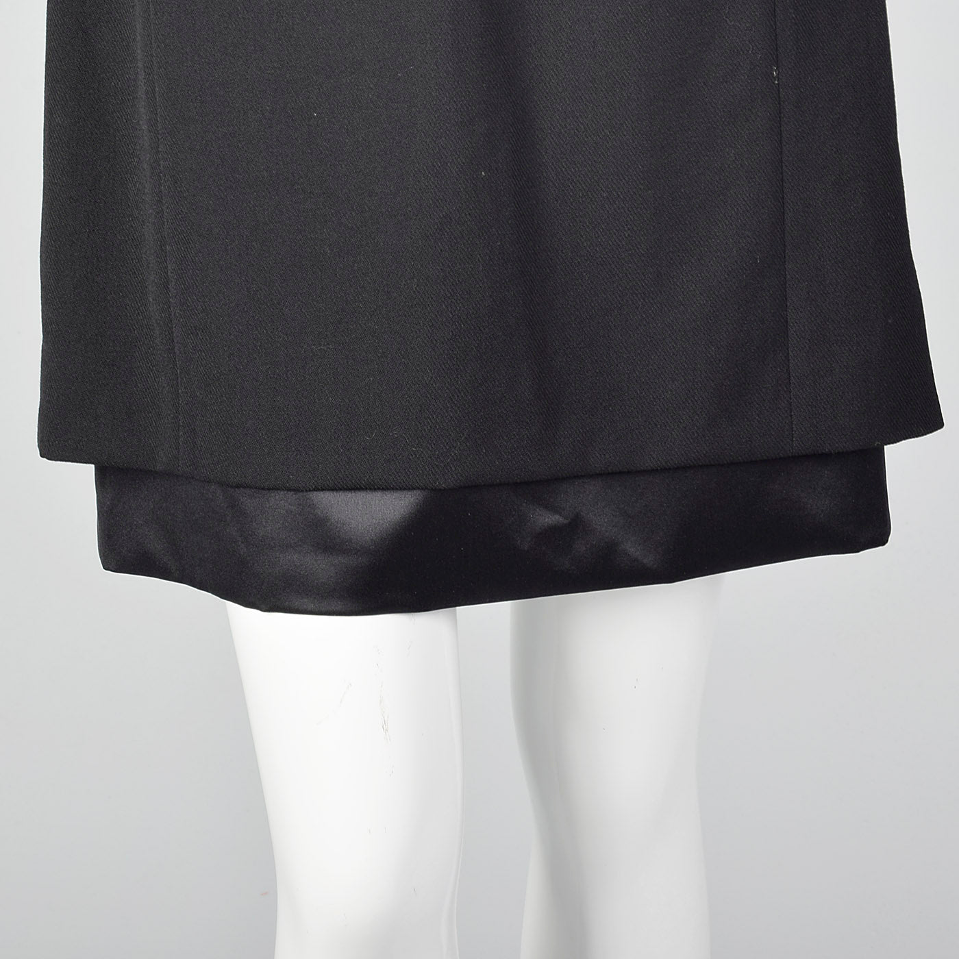 1990s Deadstock Louis Feraud Black Dress