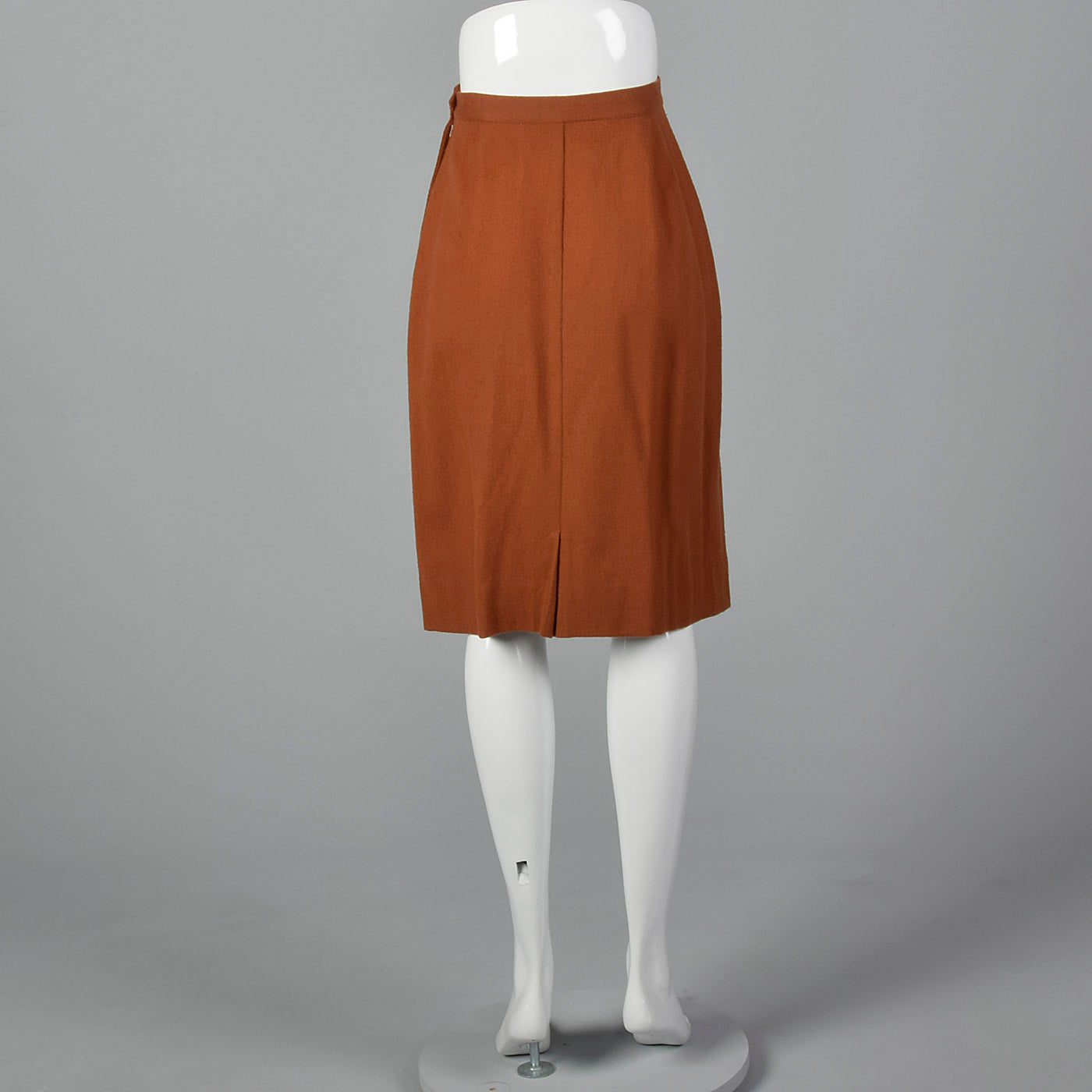 1950s Wool Pencil Skirt in Gorgeous Rust
