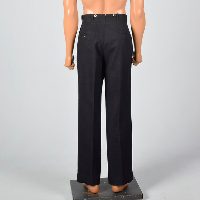 Small 1930s NRA Black Tux Pants