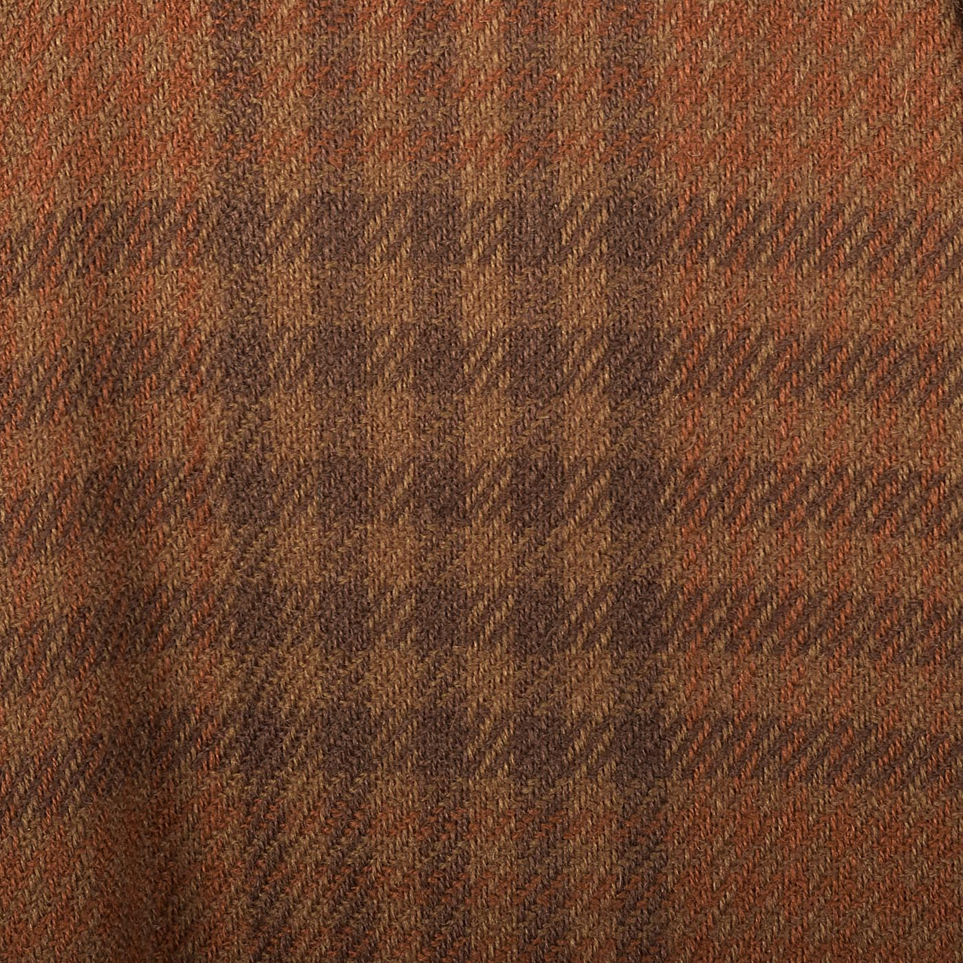 1950s Plaid Wool Dress with Attached Faux Scarf