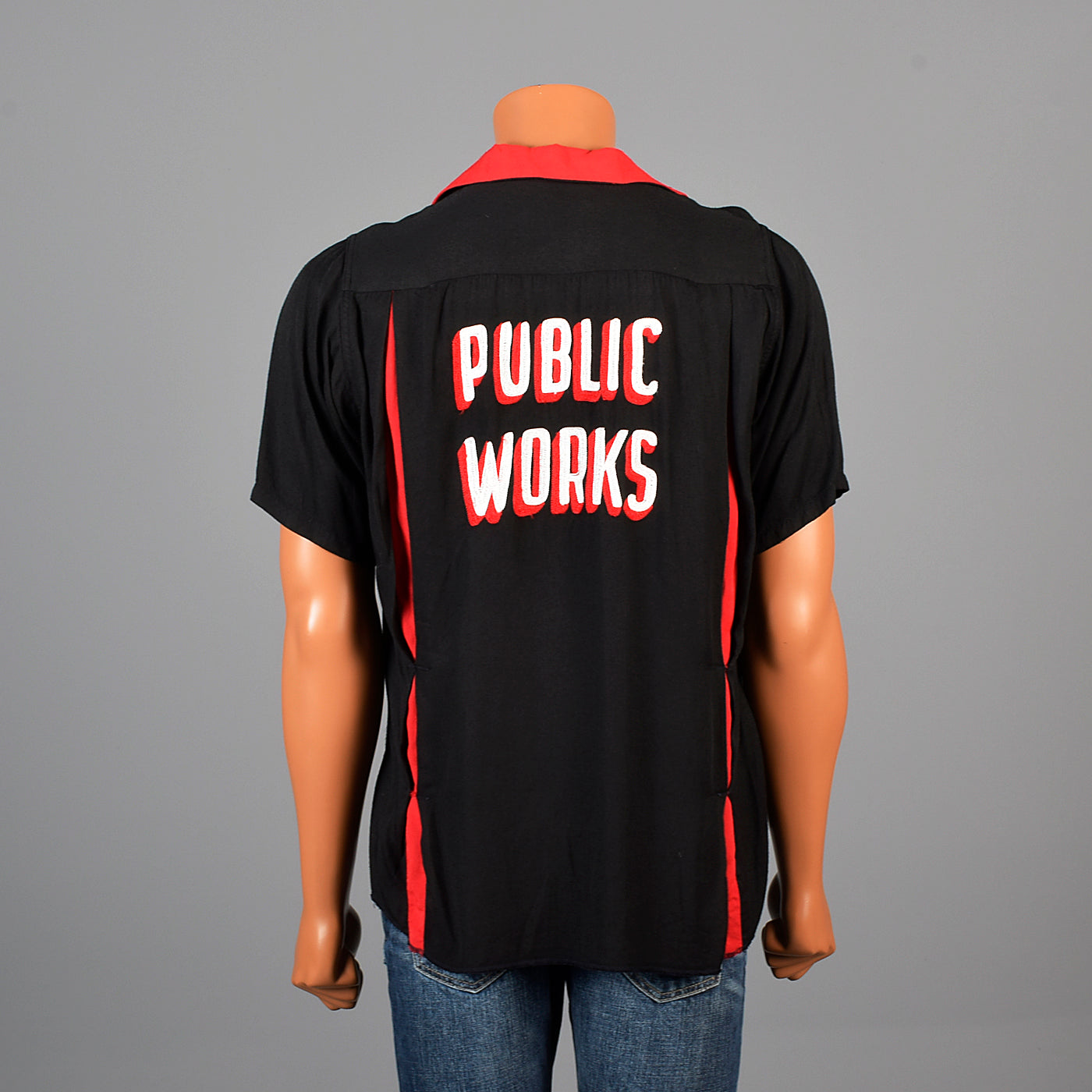 1950s Mens Public Works Bowling Shirt