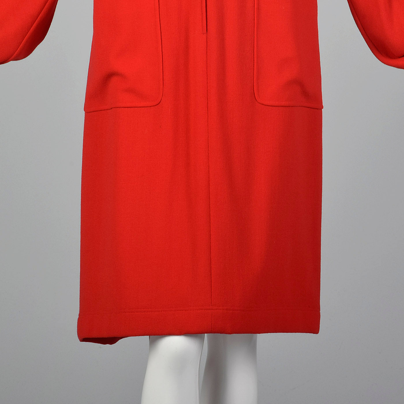 1980s Valentino Boutique Red Dress with Black Trim