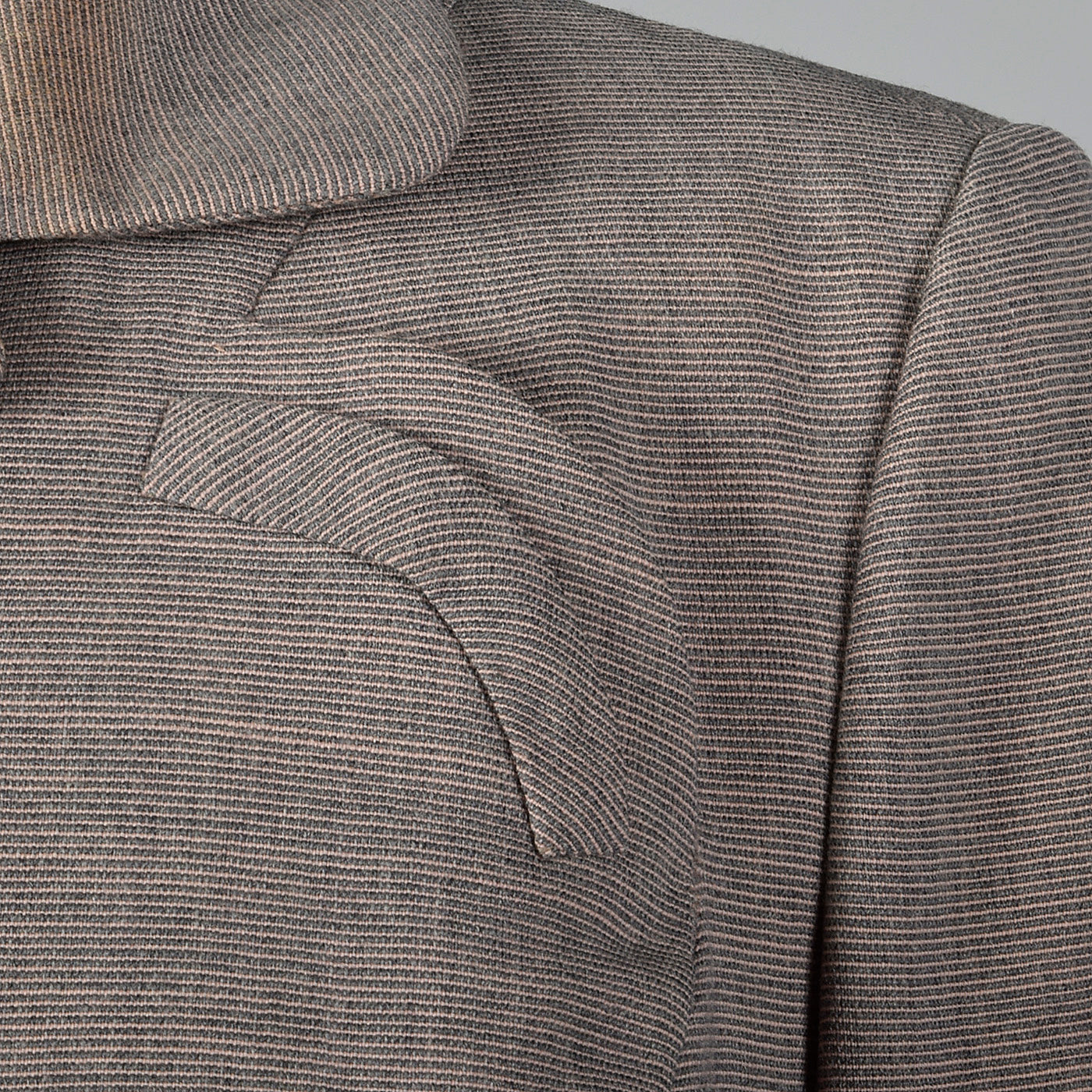 1950s Fitted Blazer in Pink and Gray Stripe