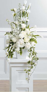 Beautiful White Memorial Design 2-2