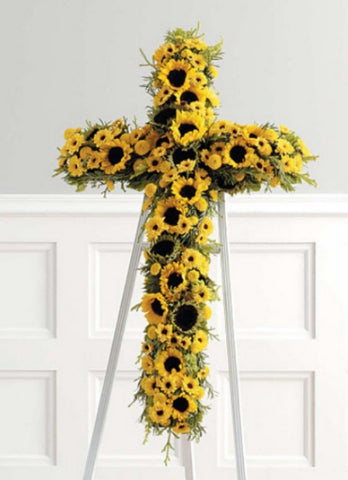 Sunflower Cross 43-2