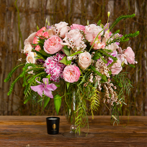 Blooms Overflowing Vase-