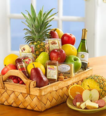 Fruit and Gourmet Basket-Premium