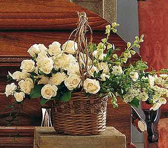 White Gathering Basket 6-3