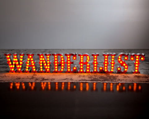 Road Warrior Marquee Letter Set - WANDERLUST