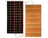 Black Pattern Ikat/Handwoven Multi-Colored Cotton