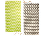Dual-sided Lime and Gray ikat pattern