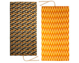 Dual-sided Multi-pattern and Orange ikat pattern