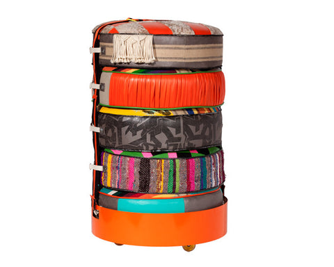 Coachella Pouf Container Caddy