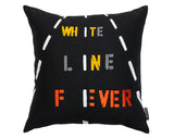 modern graphic black and yellow accent pillow