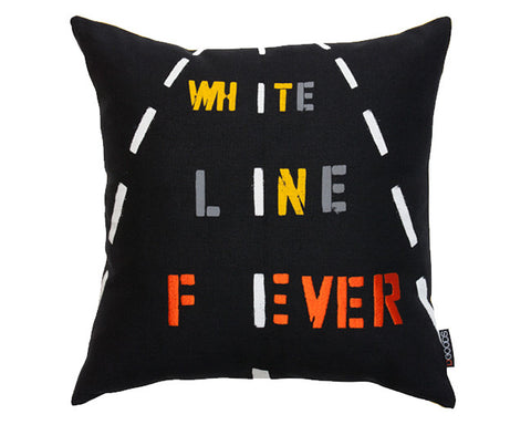 White Line Fever Pillow