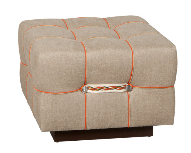 modern square tufted storage ottoman