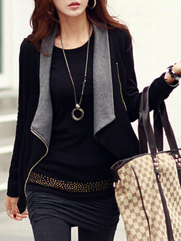 Zipper Casual Long Sleeve Jacket