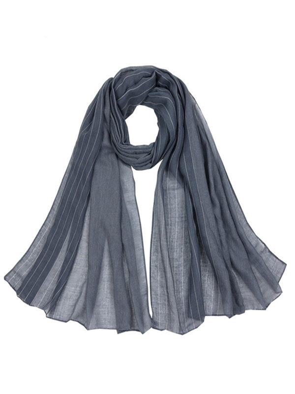 Casual Striped Women All Season Scarve