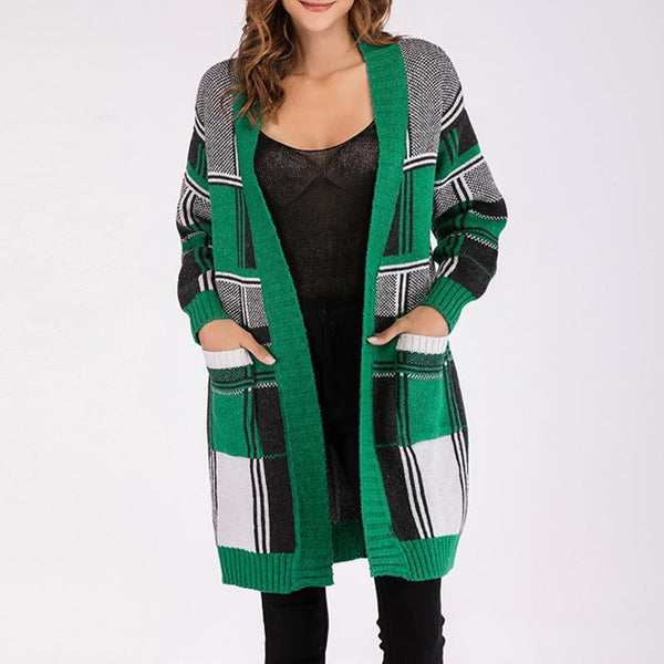 Knitted Long Sleeve Matching Slim Cardigan