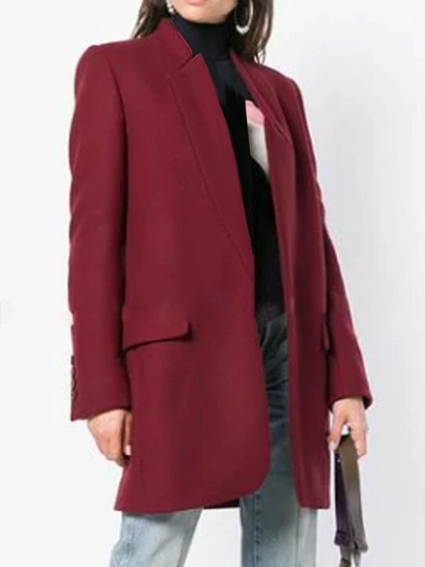 3 Colors Lapel Pockets Women's Fall&Winter Elegant Blazers