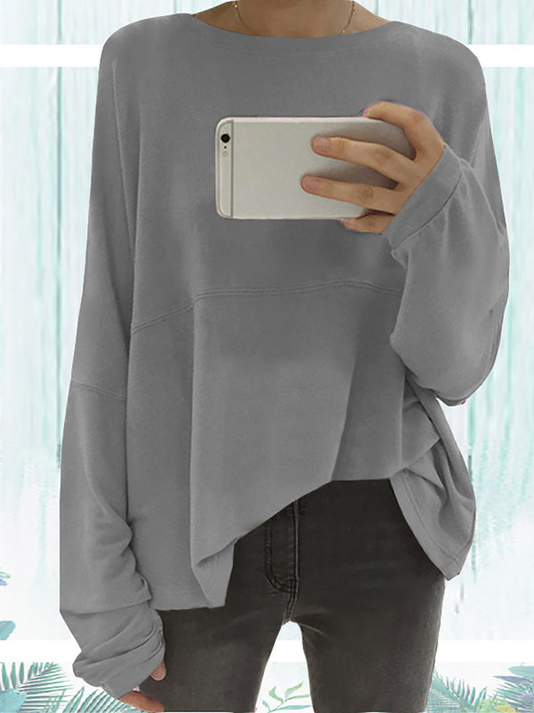 Long Sleeve Solid Elegant Paneled Plus Size Chic Shirt