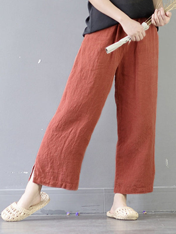 Cotton Casual Solid Pants