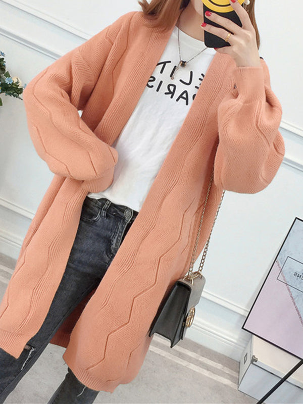 Solid Acrylic Balloon Sleeve Coat