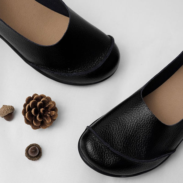 Slip On Leather Daily Casual Flats